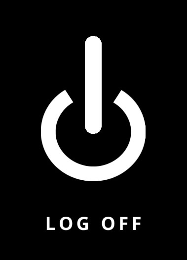 log off logo